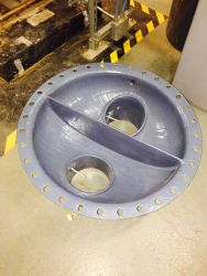 We grit blasted and Belzona coated it for the equipment manufacturer.