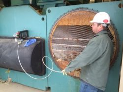 Eddy Current Testing a 2000 ton York condenser that failed
